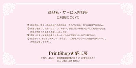 金券印刷【Kinken裏2009】金券デザイン