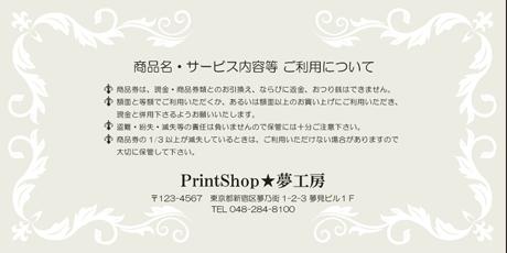 金券印刷【Kinken裏2014】金券デザイン