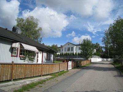 スウェーデンの住宅街