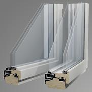 3層ガラス木製窓