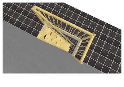 ロフト用階段パース