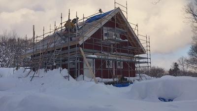 スウェーデン住宅の組立