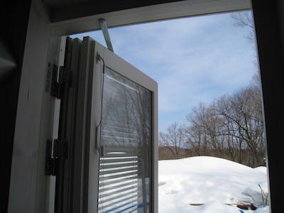 ブラインド内蔵のテラスドア