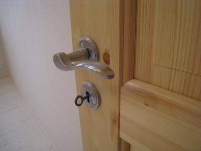室内ドアの鍵穴