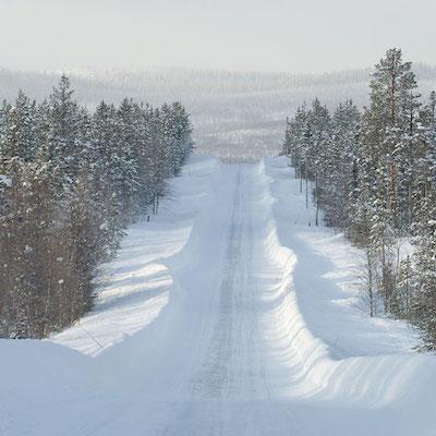 スウェーデン北部の冬