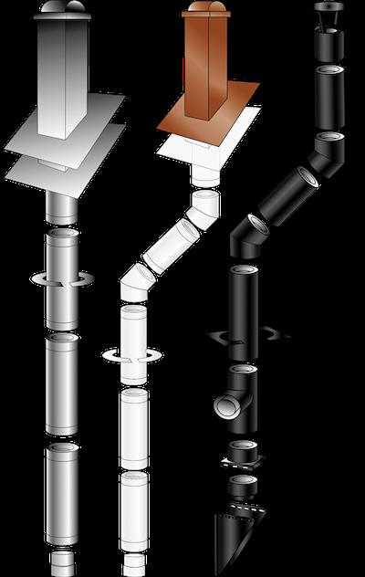 薪ストーブの煙突セット