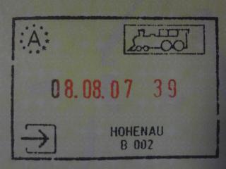 ウィーン入国汽車スタンプ