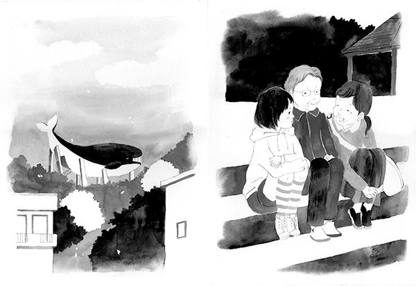 『春の海、スナメリの浜』挿絵2