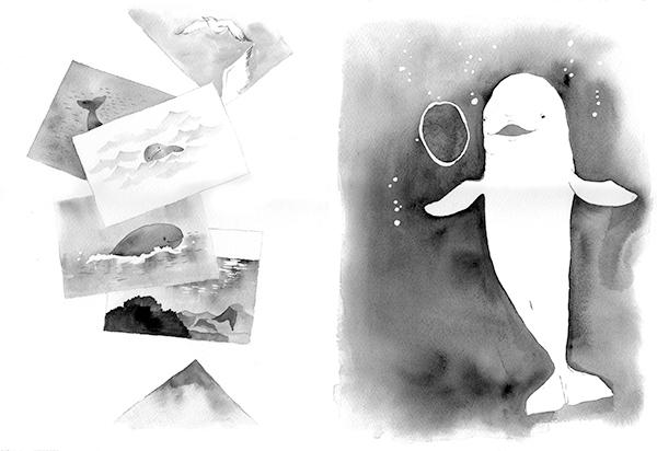 『春の海、スナメリの浜』挿絵3