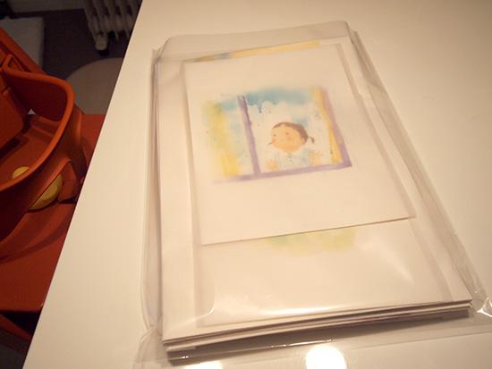 絵本原画の梱包