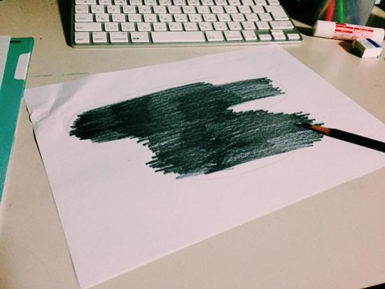 鉛筆で転写1