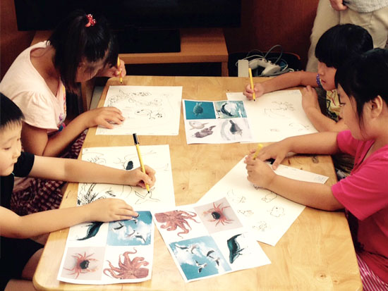 NIHOさんでのお絵描きクラス