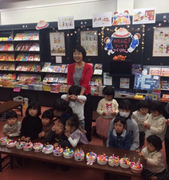 長倉書店「おたんじょうケーキをつくりましょ」ワークショップ