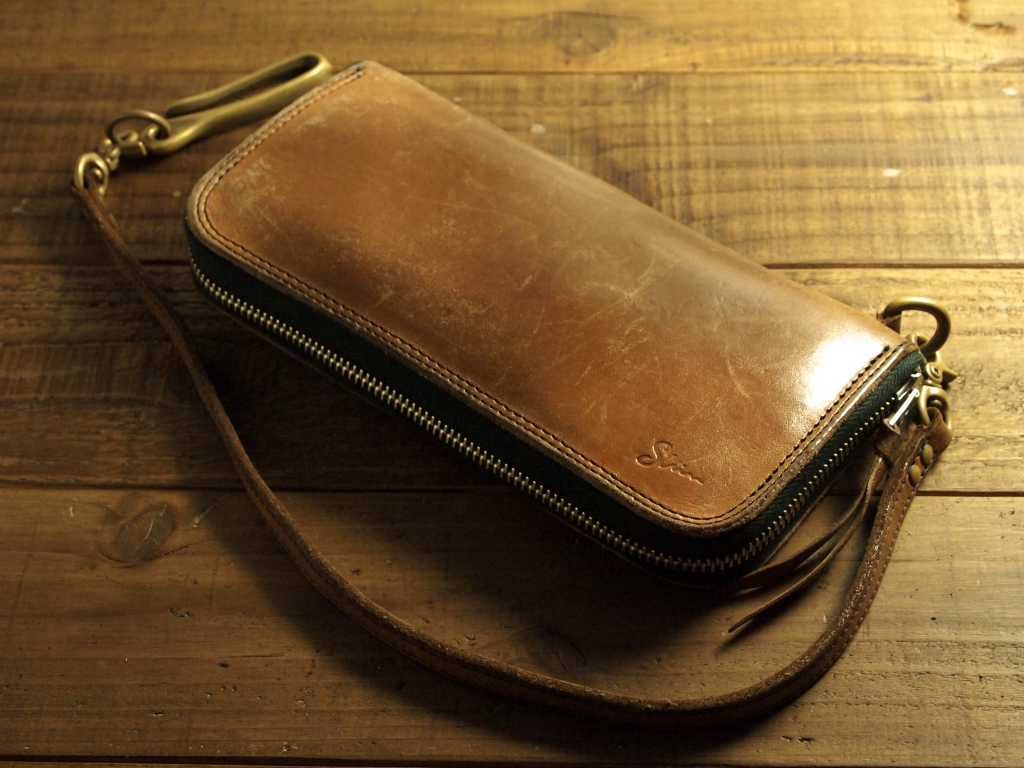 ヌメ革サドルレザー財布