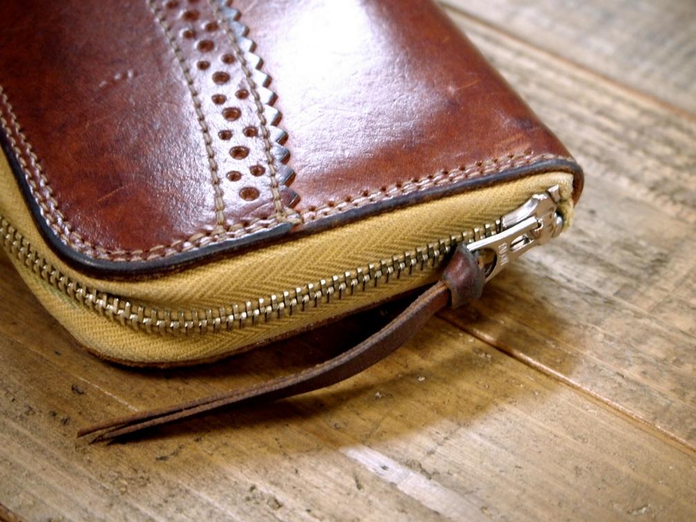 革財布のファスナー修理