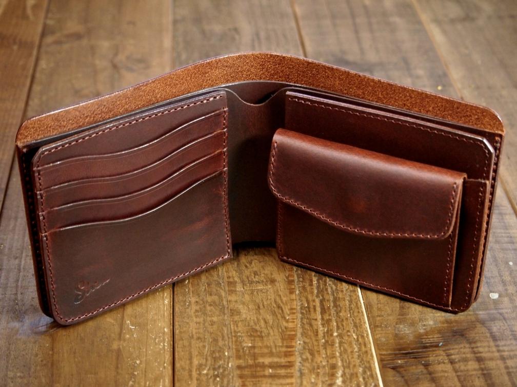 マレンマ製2つ折革財布