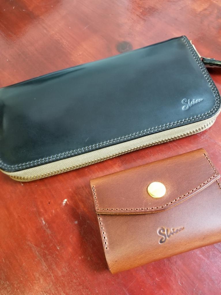 シェルコードバン財布とコインケース