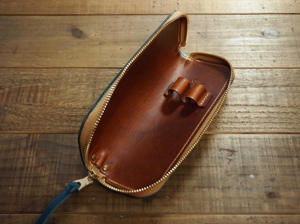革カバー付き真鍮製靴べら