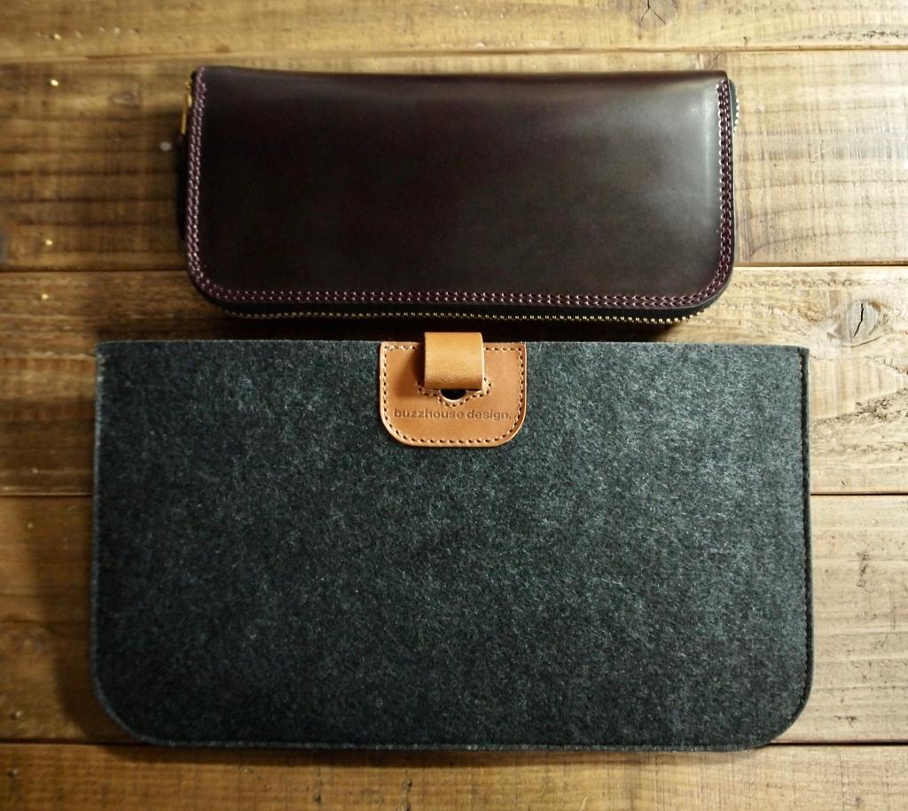 シェルコードバンの長財布と財布保護ケース
