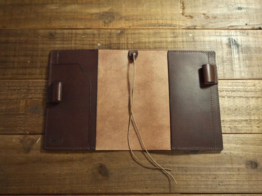 こげ茶のイタリア革のほぼ日手帳カバー