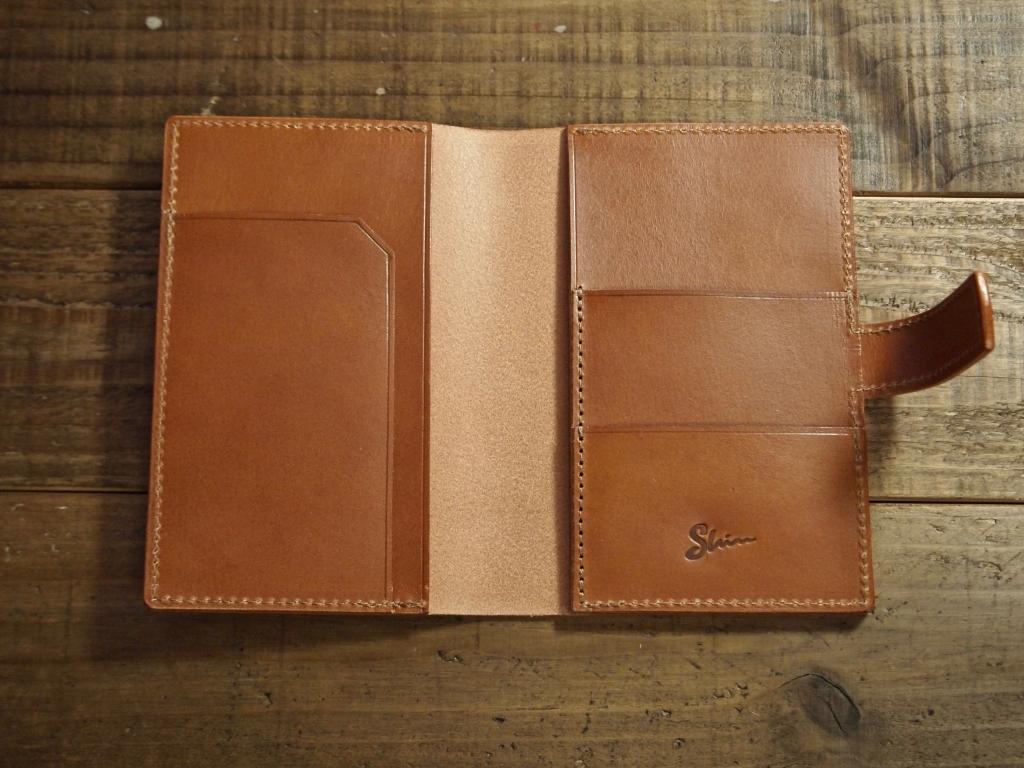本革製パスポートカバー