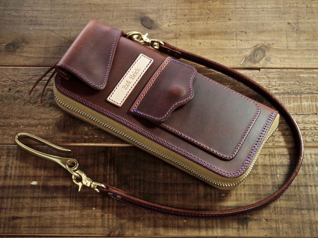 コードバンの長財布(フライトウォレット)