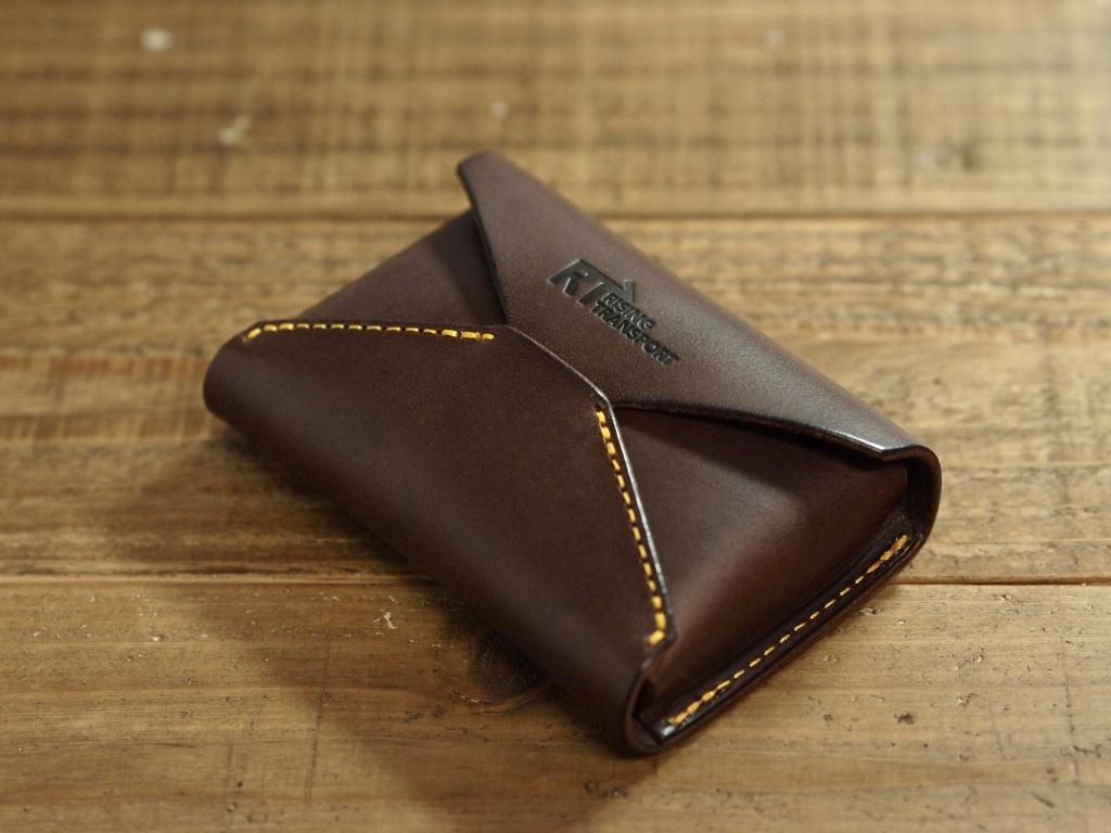 イタリア革(エルバマット)の封筒型名刺入れ