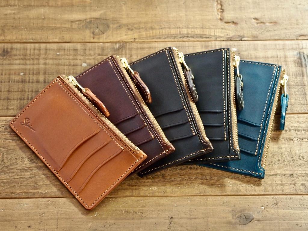 コンパクトな革の財布
