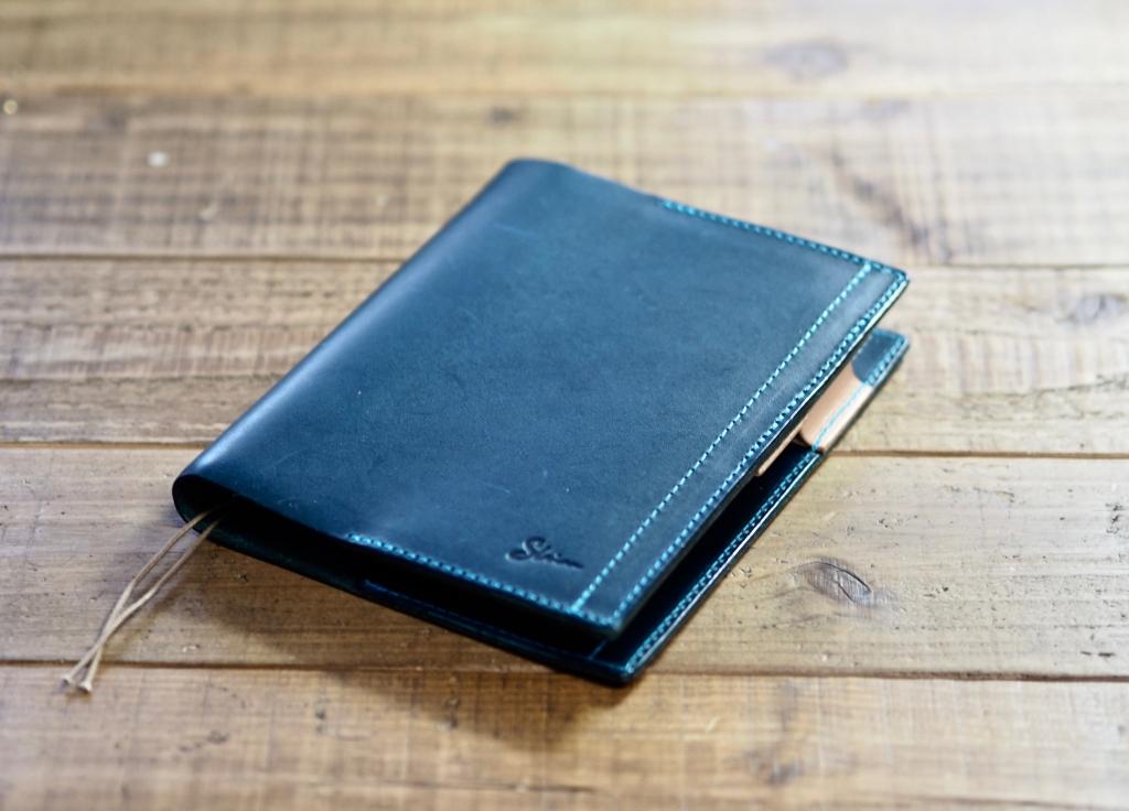 青いブッテーロのほぼ日手帳カバー
