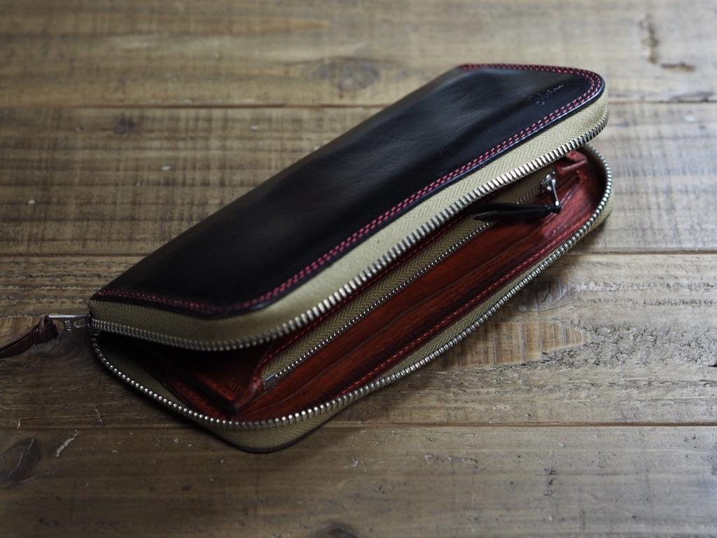 ブッテーロの財布のエイジング(修理品)