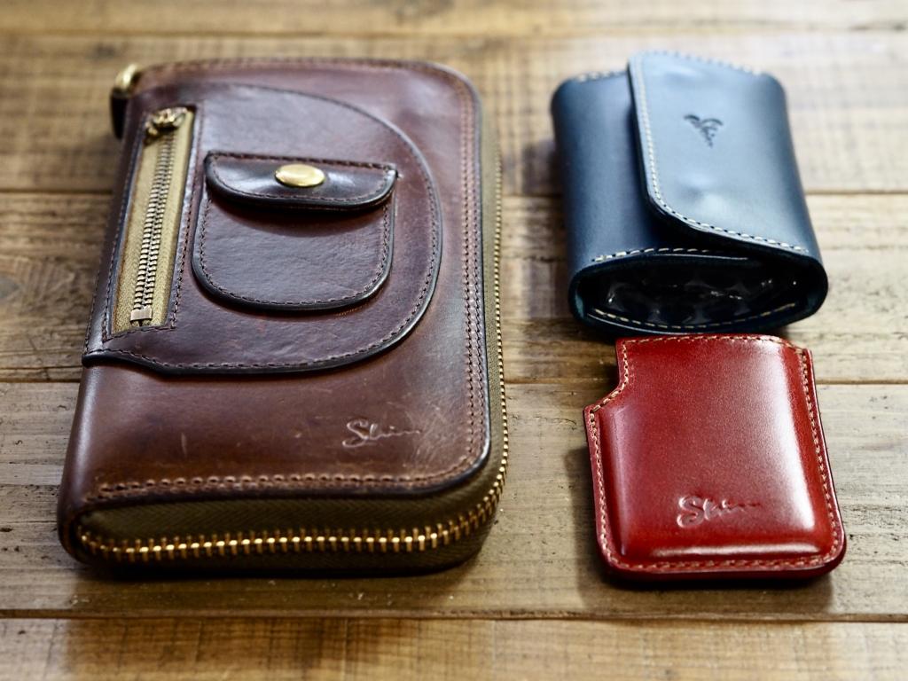 財布修理品とキーケースとミンティアケース