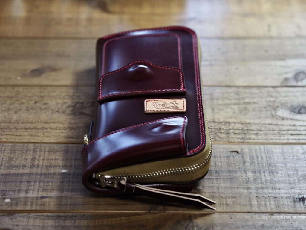 レーデルオガワのコードバンの長財布(フライトウォレット)