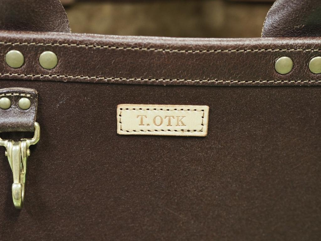 丈夫な革の小さいトートバッグ