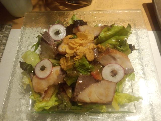 ぶりの燻製サラダ