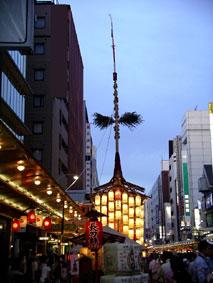 080727_長刀鉾と夕焼け