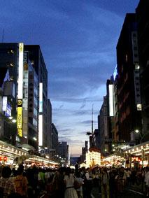 080727_四条通の夕焼け