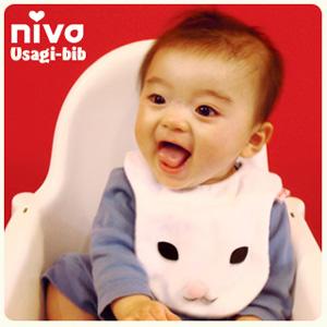 nivaのうさぎビブモデル