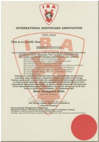 IBA訓練修了証