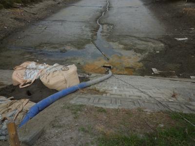 クリーク水抜き工事