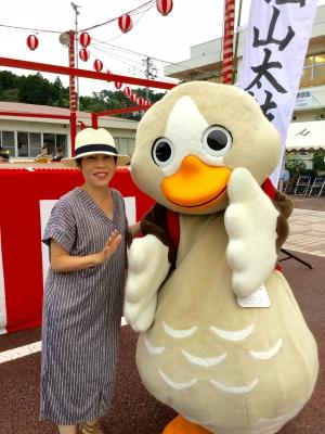 松山祭りパタ崎さんと