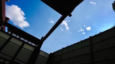 露天風呂から見上げる空