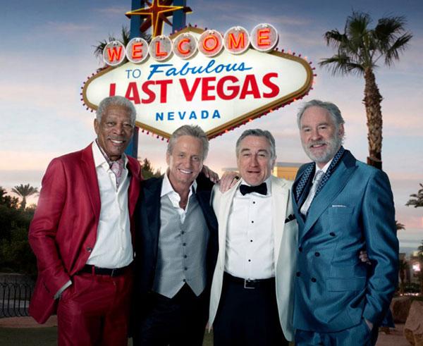 ロバート・デ・ニーロ、モーガン・フリーマン、マイケルダグラス、ケヴィン・クラインのコメディ「Last Vegas」の画像が来たよ