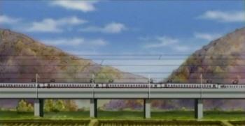 高架を走る新幹線