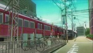 通過する阪急電車