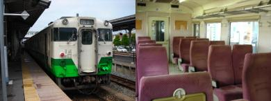 石巻線の列車