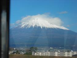 富士川橋梁から見た富士山