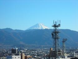 舞鶴城公園からの富士山