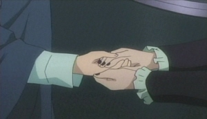 モアの手を取るミランダ