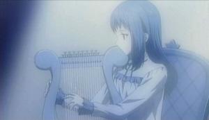 竪琴を弾く少女