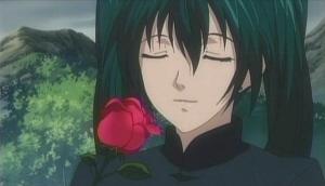 リナリーとバラの花